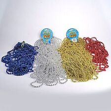 Mixed bag Mardi Gras Beads necklaces party favors red blue silver gold 3pounds