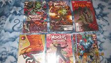 Marvel Comics Monsters Unleashed 1-3,5 Deadpool/Spiderman#1 Hulk #1