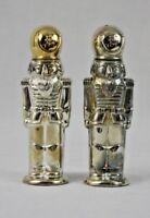 Godinger Silver Art Co Silver Plate Nutcracker Soldier Salt & Pepper Shakers