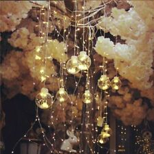 Fairy String Lights Transparent Ball Beads Garden Christmas Decor Party Lighting