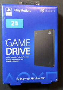 Seagate Game Drive 2TB for PS4 [ USB 3.0 / Black Edition ] NEW