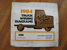1984 Ford C-600 C-700 C-800 Truck Wiring Diagrams