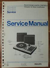 Plattenspieler 22AF292 Gramophon Philips Service Manual Serviceanleitung
