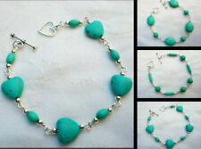 Handmade Turquoise Silver Plated Costume Bracelets