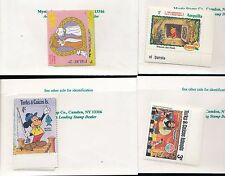 DISNEY Small lot of Mint Stamp Sets Palau, Turks & Caicos, Anquilla (lot#B416)
