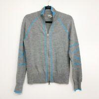 Athleta Dual Full Zip Wool Blend Sweater Jacket, Size M