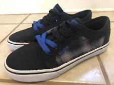 tony hawk skateboard Canvas Shoes Black Gray Plaid Size Boys Youth 6