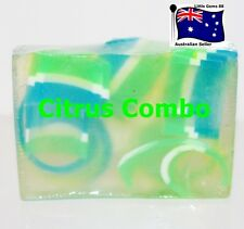 HANDMADE NATURAL TRANSPARENT SOAP ~ Citrus Combo ~ 100GRAMS ~ 4 for $8 Postage