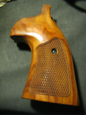 Smith & Wesson K/L Frame Ndale Wood ROUND-Butt CHECKERED TARGET Grips SMOOTH NEW