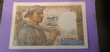 France billet 10 francs 1949 type Mineur  neuf