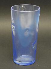 "VINTAGE 60s BERTIL VALLIEN  KOSTA BODA 8"" GLASS VASE COBALT BLUE SHADE 48703"