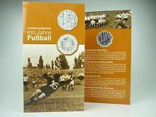*** 5 EURO Gedenkmünze ÖSTERREICH 2004 100 Jahre Fußball im Folder Silber Münze