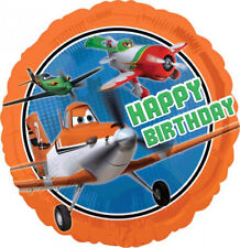 PLANES HAPPY BIRTHDAY Standard Round Foil Balloon Birthday Decoration