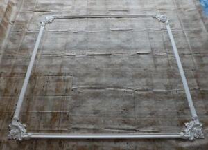 DS 014 Gips Stuck Gipsleisten Deckenspiegel Wandspiegel Rosette Deko Relief 8-Te