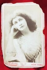 "Emma Eames American Opera Soprano Cabinet Card 1935 Newsboy New York 4.25""x6.5"""