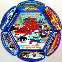 2013 SCOUT Jamboree GREAT ALASKA COUNCIL WESTERN NANUK 355 7 PATCH SET DELEGATE