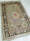 """Bohemian Pre-1900s Antique Wool Pile Muted Natural Dye Oushak Rug 3'10""""×6'"""