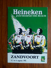 HEINEKEN JAZZ BEHIND THE BEACH ZANDVOORT 1995 carte postale postcard