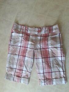 Rue 21  Misses Size 13/14 Plaid Walking Shorts Cotton Longer Shorts