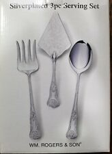 Brand New in Box WM. ROGERS & SON Embossed Silverplated 3pc Serving Set