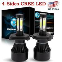 CREE H4 LED Headlight Kit Light Bulbs Hi/Lo Beam 6000K 9003 HB2 2400W 360000LM