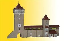 Kibri 37362 City Wall with Truss Tower, Kit,N