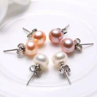 Classic Freshwater Pearl Sterling Silver Stud Earrings