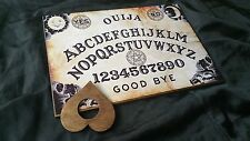 Wooden Ouija Board Game Classic Pentagram & Planchette ghost hunt Instructions