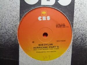 "Bob Dylan ""Hurricane (Part I)  & (Part II)"" 1975 CBS Oz 7"" 45rpm"
