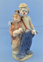 "LLADRO FIGURINE #7686 ""PALS FOREVER"" CLOWN WITH GIRL AND DOGS"