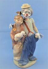 """Lladro Figurine #7686 """"Pals Forever"""" Clown With Girl And Dogs"""