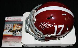 Mac Jones signed Speed Mini Helmet, Alabama Crimson Tide, JSA WIT271586