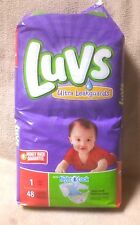 LUVS Ultra Leakguards Disposable Diapers Size 1 New 48 Count Package 8-14 lbs