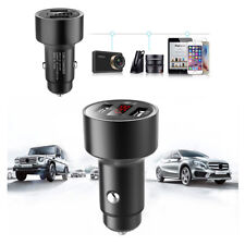 Dual USB Fast Car Charger GPS Tracker Real Time Locator Led iPhone Android 3.1A