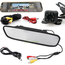 "4.3"" TFT LCD Car Monitor Mirror Rear View Reverse Backup HD Camera Night Vision"
