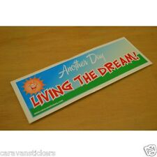 Car Window 'Another Day - Living The Dream' Sticker Decal Graphic SINGLE