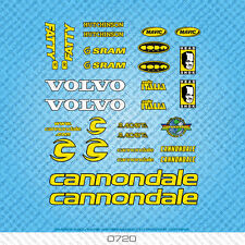 Cannondale Fatty Bicycle Decals - Transfers - Stickers - Yellow - Set 0720