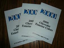 2000 Chevrolet Corvette Color Selector Exterior Colors & Interior Chart (3)