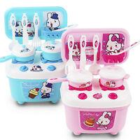 Kids Children Pretend Role Play Toys Mini Kitchen Utensils Food Cooking Set