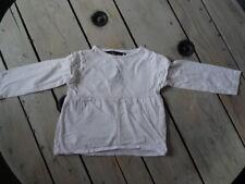 T-shirt tunique ML blanc imprimé bleu Petite fée d'amour Taille 4 ans