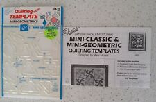 Quilting template mini geometrics by Marti Michell