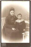 CAB Foto Feine Dame mit kleinem Jungen - Berlin 1900er