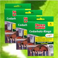 Nexa Lotte Cedarholz-Ringe Zedernholz Motten-Ringe 3x6 Stück #WS
