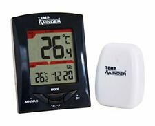 Compact Wall Mount RV Thermometer w/ Wireless Remote Transmitter for Outdoor Use