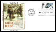 WWII BASTOGNE and BATTLE OF THE BULGE Colorano First Day Cover FDC (1338)