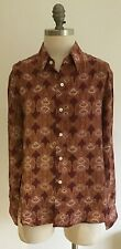 "Paisley Patterned Shirt by Luxury Brand Red House, armpit to armpit 20.5"" approx"