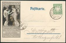 Bayern, Postkarte 1906 Landesausstellung , Nürnberg-Stuttgart