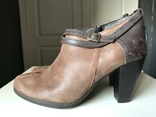 Jones The Bootmaker Ladies High Heel Brown Leather Ankle Shoe Boot Size 5 38