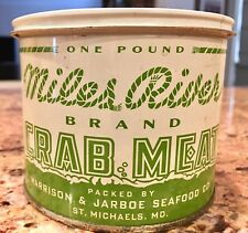 Rare Miles River Crabmeat Tin Can Crab Saint St Michaels MD Maryland -Not Oyster