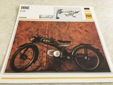 Carte moto IMME R100 R 100 1949 collection Atlas Motorcycle Allemagne